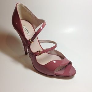 Miu Miu Dusty Rose Pink Patent Leather Pumps